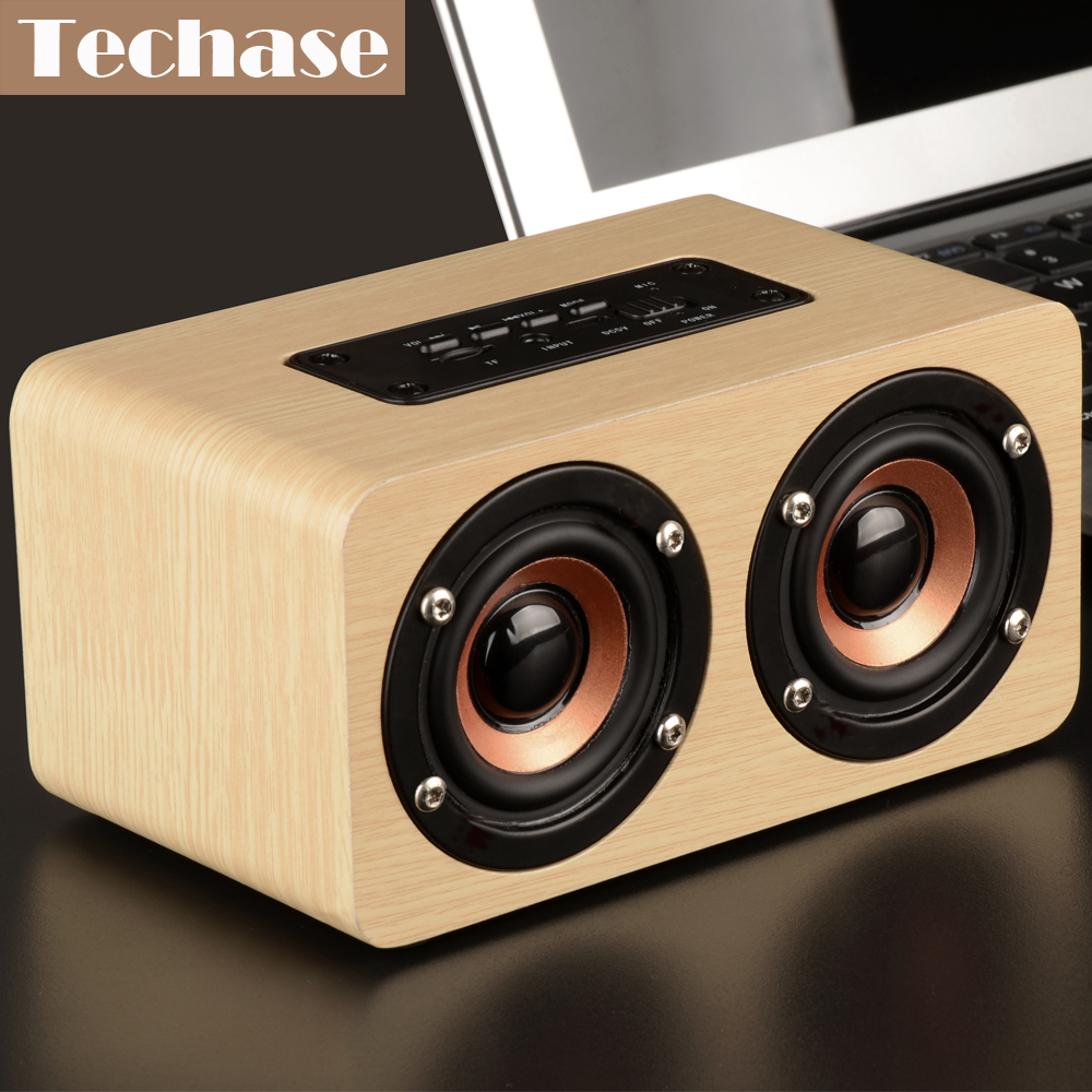 Techase Bluetooth Lautsprecher Bamboo Caixa De Som Drahtlose Mini - Tragbares Audio und Video - Foto 5