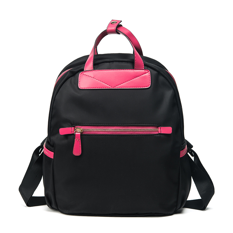 New Fashion Women Nylon Canvas Backpack High Quality School Bag For Girls Daily Backpack Preppy Style