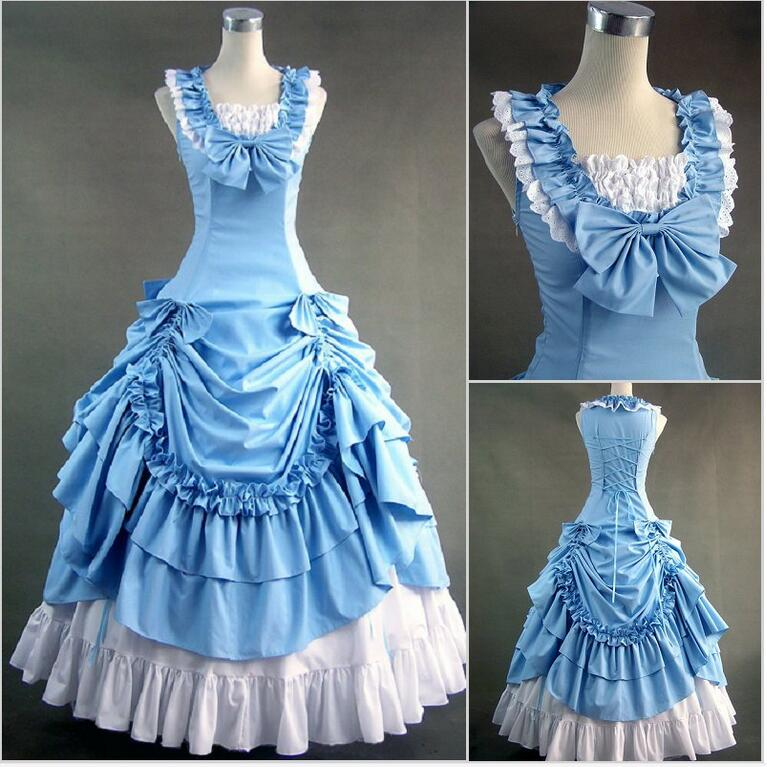 US $68.05 18% OFF|Halloween costumes for women adult southern belle costume  red Victorian dress Ball Gown Gothic lolita dress plus size custom-in ...