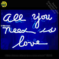 Neon Sign Light Beer Bar Girls Wall Window Lights Bedroom Home Signs ALL YOU NEED IS LOVE Art Lamps Glass tubes With Clear Board
