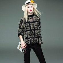 Women 2017 Chiffon Blouses Spring Fashion Shirts Clothing Tops Summer Tops Korean Vintage Boho Ruffle Printed Ladies Top Blouse