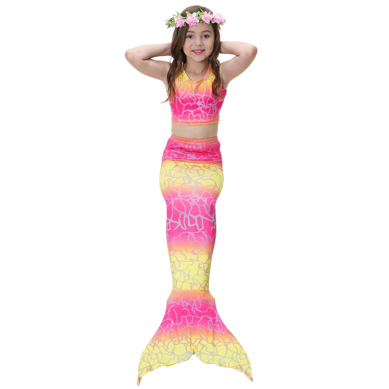 Aliexpress Buy 3PCS Girl Kids Mermaid Tail Cosplay Cloth Baby