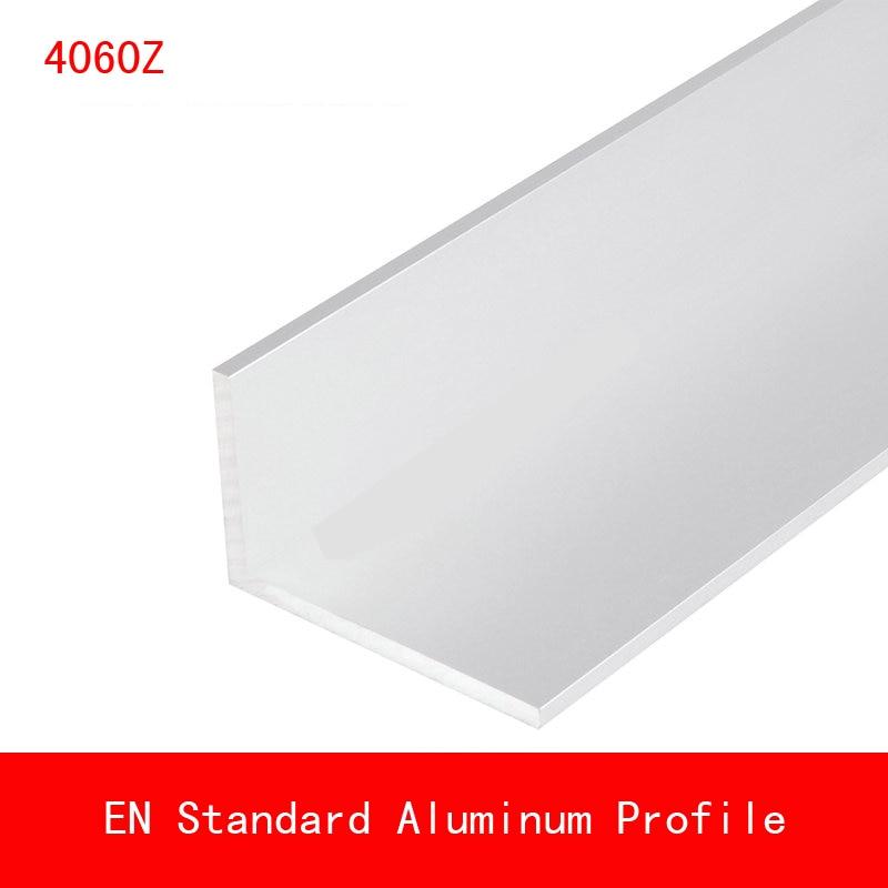 2pcs length 500mm 60*40*4mm Type L Aluminium Profile Long Angle Plate EN CE ISO DIY Brackets AL 3D Printer 4060z2pcs length 500mm 60*40*4mm Type L Aluminium Profile Long Angle Plate EN CE ISO DIY Brackets AL 3D Printer 4060z