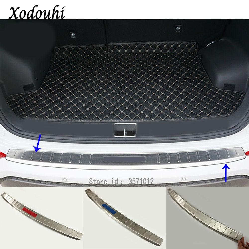 Pour Hyundai Tucson 2015 2016 2017 2018 voiture Externe Pare-chocs Arrière garniture cadre styling couverture détecteur acier inoxydable pédale de plaque 1
