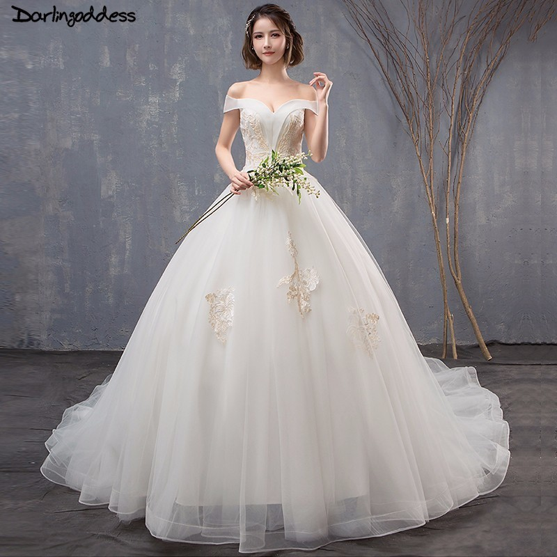 US $108.6 35% OFF|Vintage Wedding Dress Plus Size Cap Sleeve Ball Gown  Wedding Dress 2018 Princess Lace Off Shoulder Wedding Dress Long Tail-in ...