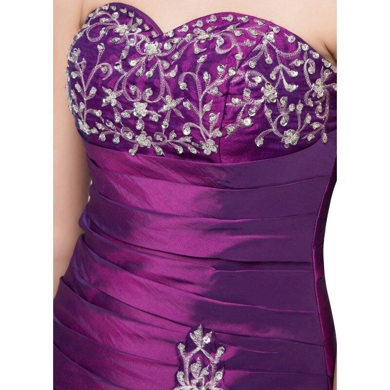 Prêt à expédier violet Quinceanera robe broderie cristaux chérie Vintage robes de bal taffetas debutante robe robe - 5