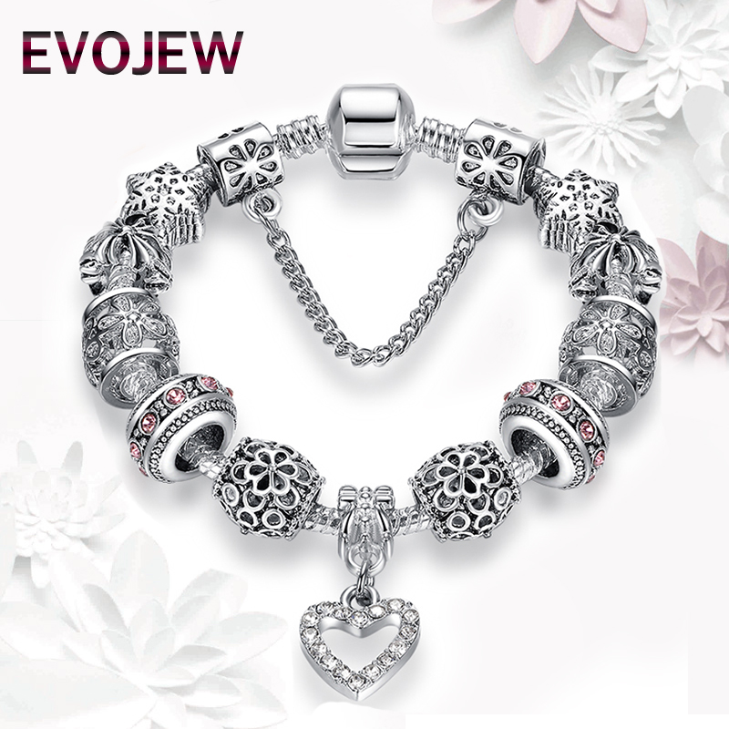 Authentic Silver Plated Starfish Eiffel Tower Snowflake Animal Elephant Heart Charm Beads