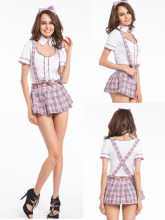 new Women sex costume outfit baby doll school girl costume fantasia french maid costume halloween erotic oktoberfest costume