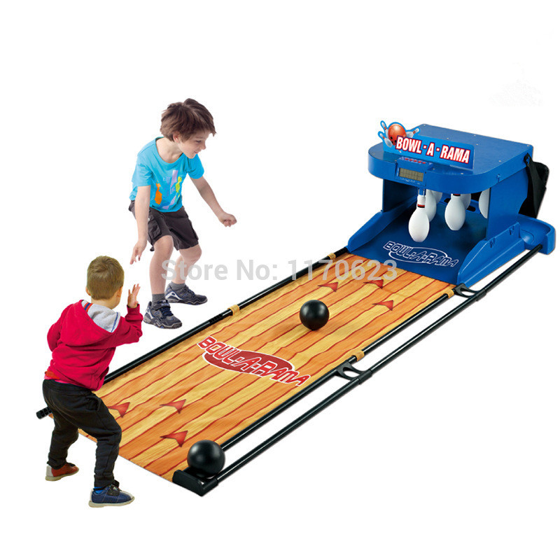 Large Electric Bowling Children's Toy Set With A Scoring Device Simulation To Roll Back Outdoor Parent-child Interaction