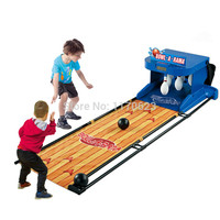 Large electric bowling children's toy set with a scoring device simulation to roll back outdoor parent child interaction