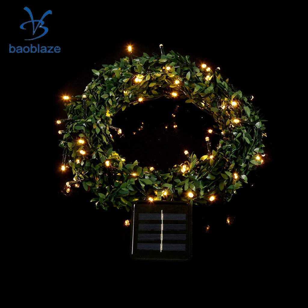 100LED 10m/32.8ft Solar 100LED String Light Garland Fairy Light Lamp for Holidays Wedding Party Christmas Indoor Outdoor Decor
