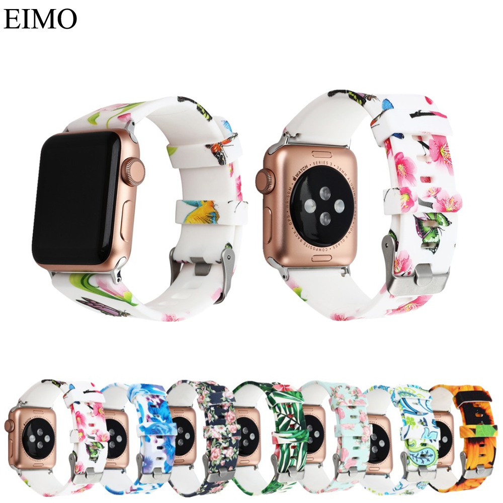 EIMO Sport Silicone Strap for Apple Watch Band 42mm 38mm Iwatch series 3 2 1 bracelet wristband Watchband Accessories straps sport silicone band strap for apple watch nike 42mm 38mm bracelet wrist band watch watchband for iwatch apple strap series 3 2 1