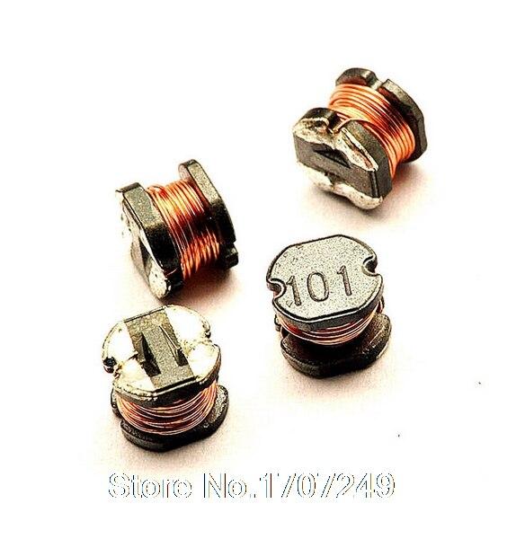 Gratis Verzending 100 Stks/partij Cd54 100uh Kronkelende Soort Stroominductoren Smd Power Inductor M65 (markering: 101) Firm In Structuur