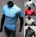 Camisas dos homens Verão 2016 Moda China Vento Selo Dragão dos homens O-pescoço Curto-luva T camisa M ~ XXXL plus Size Mens Camisa de Moda
