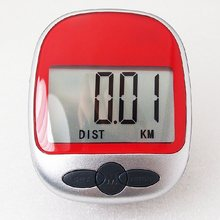 Sport Red Pedometer Exercise Monitor Step Counter Diet Aid Walk Jog Run Timer Wide LCD display Fitness Equipment
