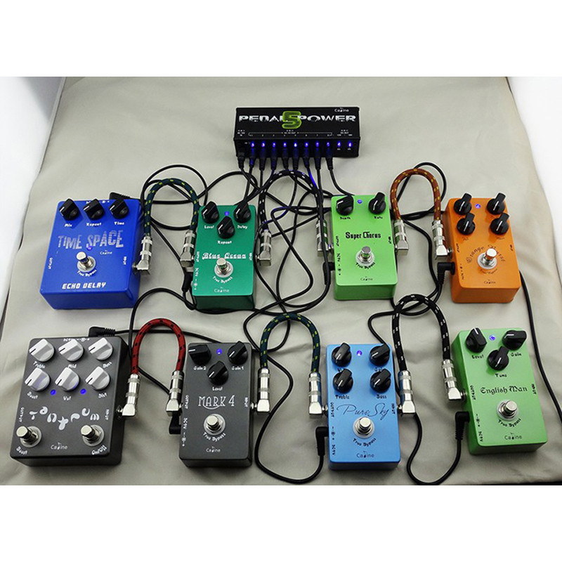 Caline CP-05 Guitar Effect Pedals Power Supply Ten Isolated Output (8 Way DC 9V & 1 Way DC 12V & 1 Way 18V) voltage protection шапка check ya head check ya head mp002xm0lzmg