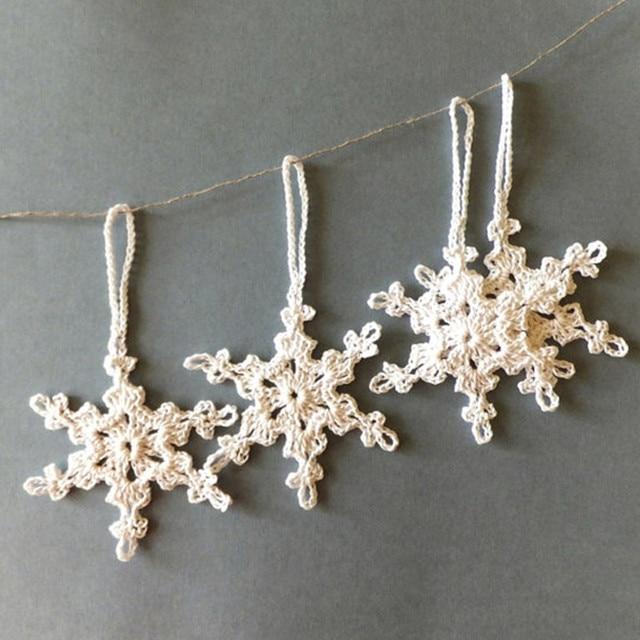 Christbaumschmuck Hakeln Schneeflocken Ornamente Urlaub Ornamente