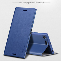 X Level PU Leather Case For Sony Xperia XZ Premium Dual G8141 Luxury Stand Cover For