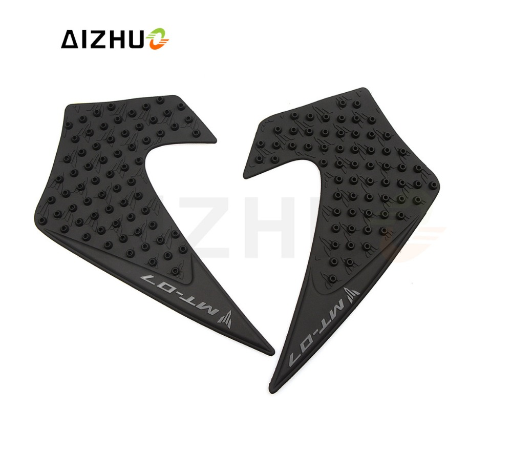 motorcycle Accessory Rubber oil tank Sticker anti slip moto gas tank stickers protector pad FOR Yamaha MT07 MT-07 2013 2014-2016