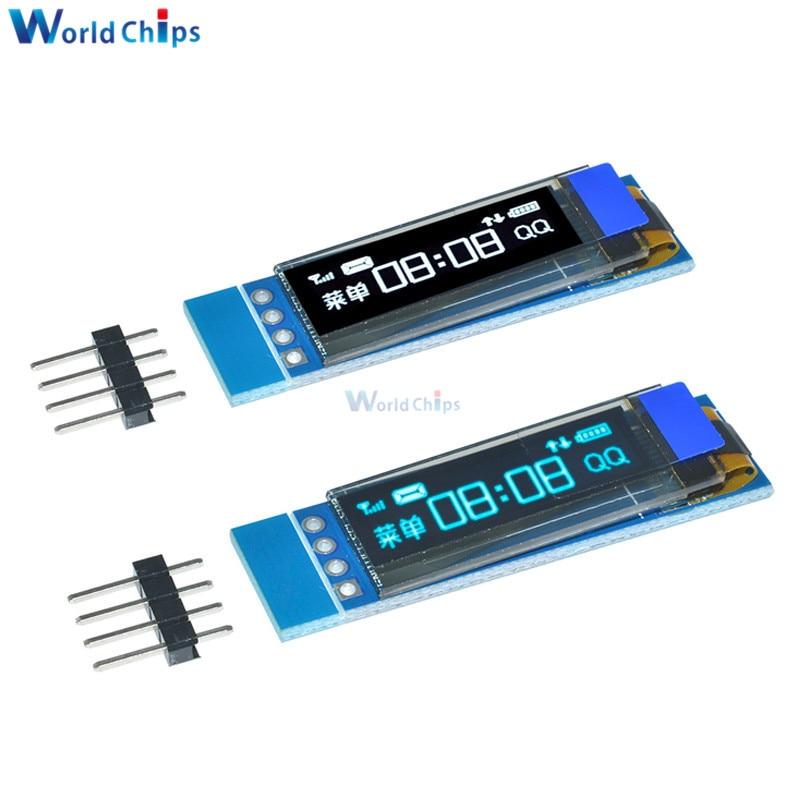 0.91 Inch DC 3.3V 5V 128x32 IIC I2C Blue OLED LCD Display Module 0.91