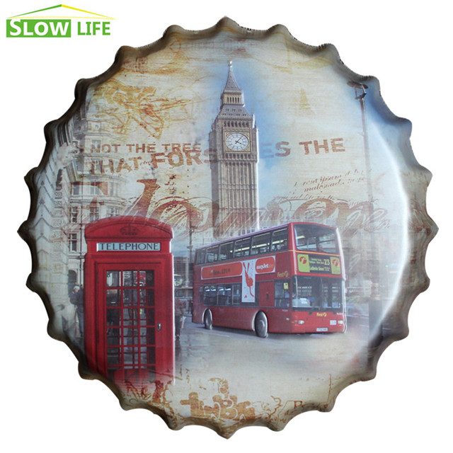 Aliexpress.com : Buy 35cm London Style Beer Bottle Cap Metal Tin ...
