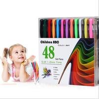 Smart 48 Gel Pens Set Color Gel Pens Glitter Metallic Pens Good Gift For Coloring Kids