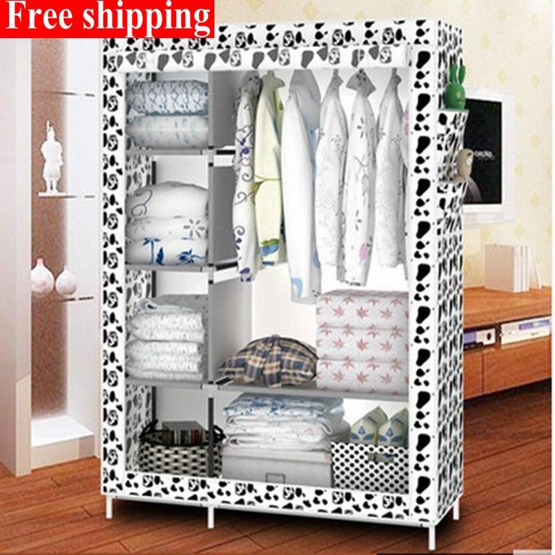 Gratis Verzending 11 Kleuren Eenvoudige Doek Garderobe