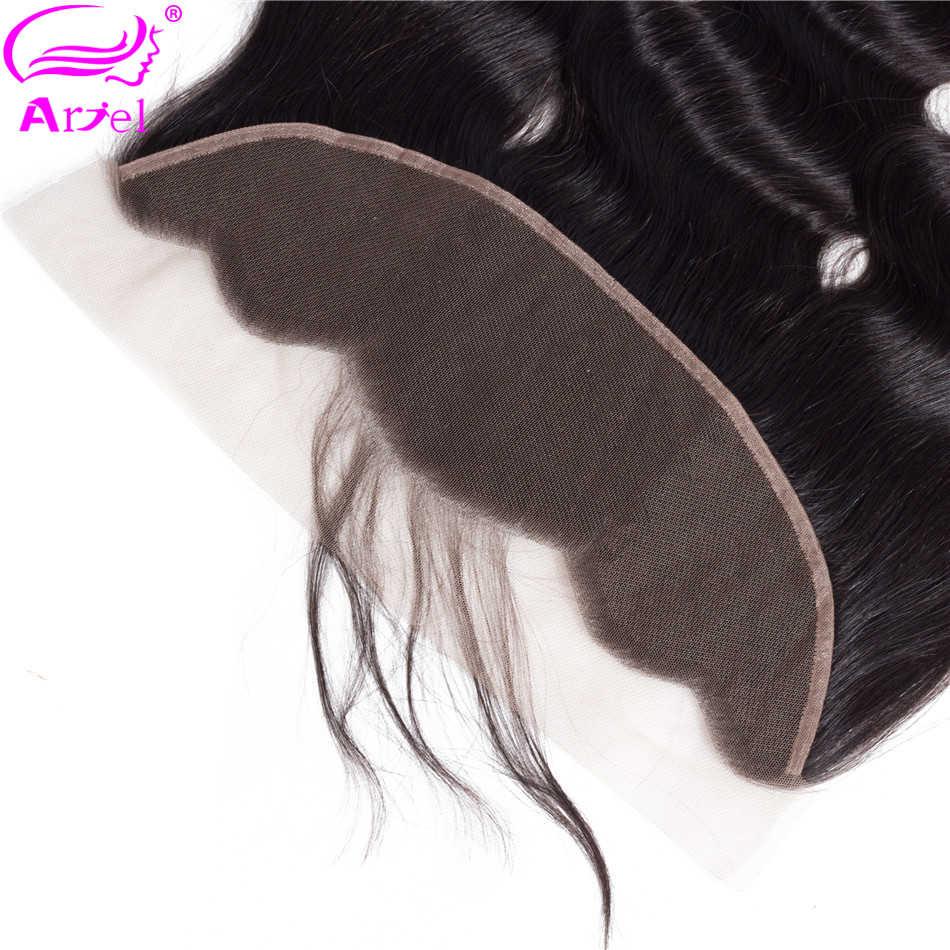 """Ариэль перуанские тела волна Кружева Фронтальная застежка с ребенком волос 100% человеческих волос не Реми 13x4 уха до уха Кружева Фронтальная застежка 8-22"""""""