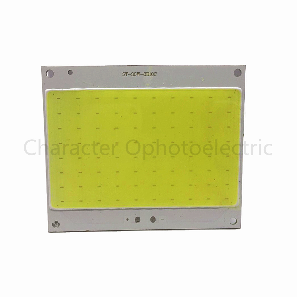 1 PCS 30W 30-36V Ultra Bright COB LED White Light Lamp source Chip lighting