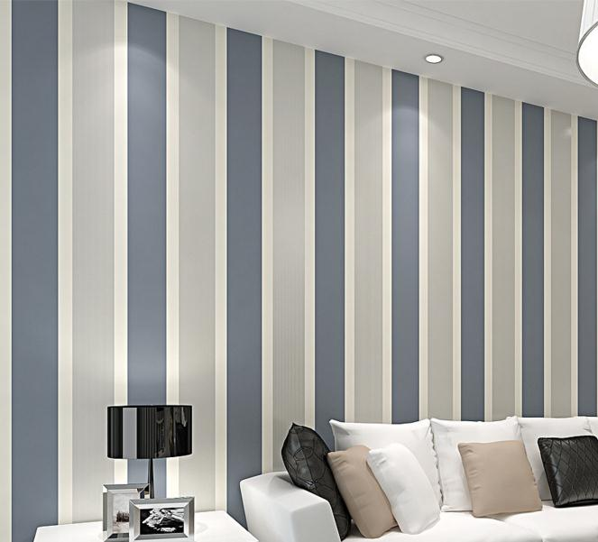 American Style Wallpaper Striped Wallpaper Bedroom Living Room TV Backdrop  Study Wallpaper Factory Wholesale In Wallpapers From Home Improvement On ...