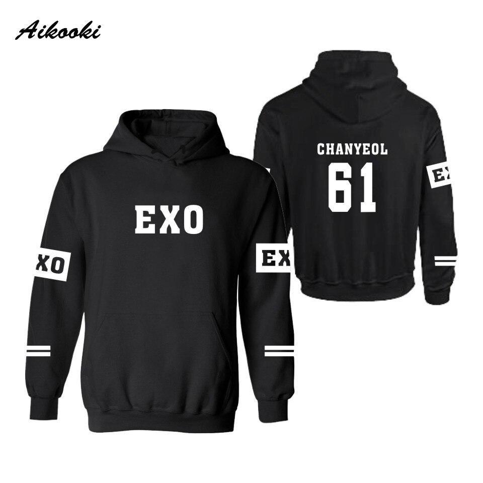 e165a07db28 Aikooki EXO Kpop Hooded Men Women Hoodies Sweatshirts Lay Luhan Kai Tao  Suho Kris Chen Xiumin