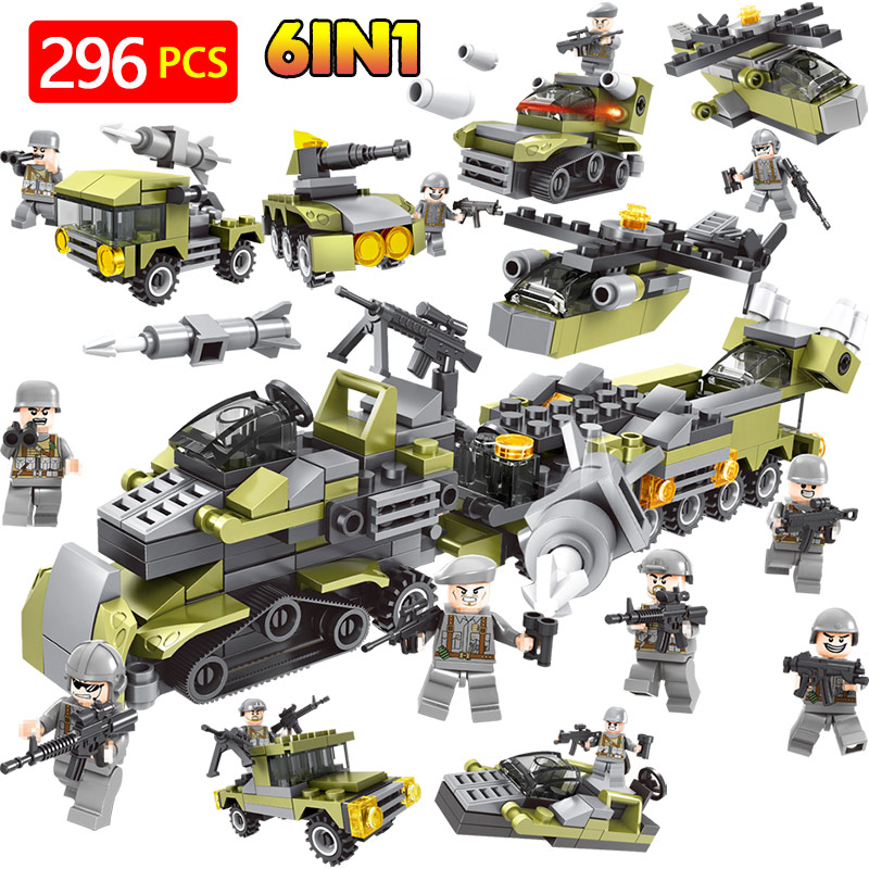 Militaire Série Blocs de Construction LegoINGlys Machine Robot Forces Spéciales Ensemble Modèle Briques Figurines En Plastique Jouets Pour Enfants