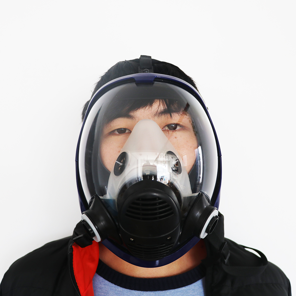 Gas mask 7 suits chemical organic gases and vapors mask filter respirator paint mixing spray graffiticonstructionrenovation in safety shoe boots from