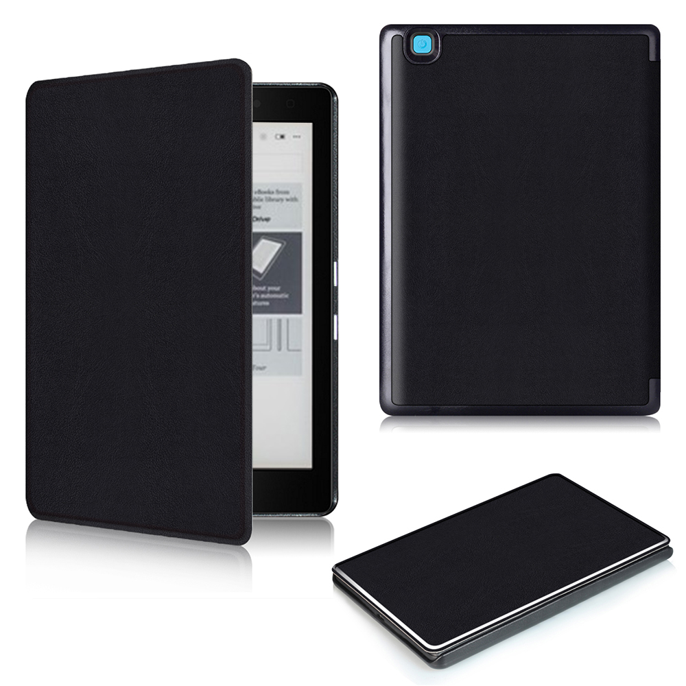 For Kobo Aura Edition 2 new 6 inch eReader Ebook PU leather smart cover protective stand folio case + protector film + stylus ultra slim custer 3 folder folio stand pu leather magnetic skins cover protective case for kobo aura one 7 8 inch ereader ebook
