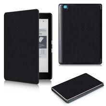 Para Kobo Aura Edición 2 nueva 6 pulgadas eReader Ebook PU caso del soporte del folio de cuero elegante de la cubierta protectora + protector de la película + stylus