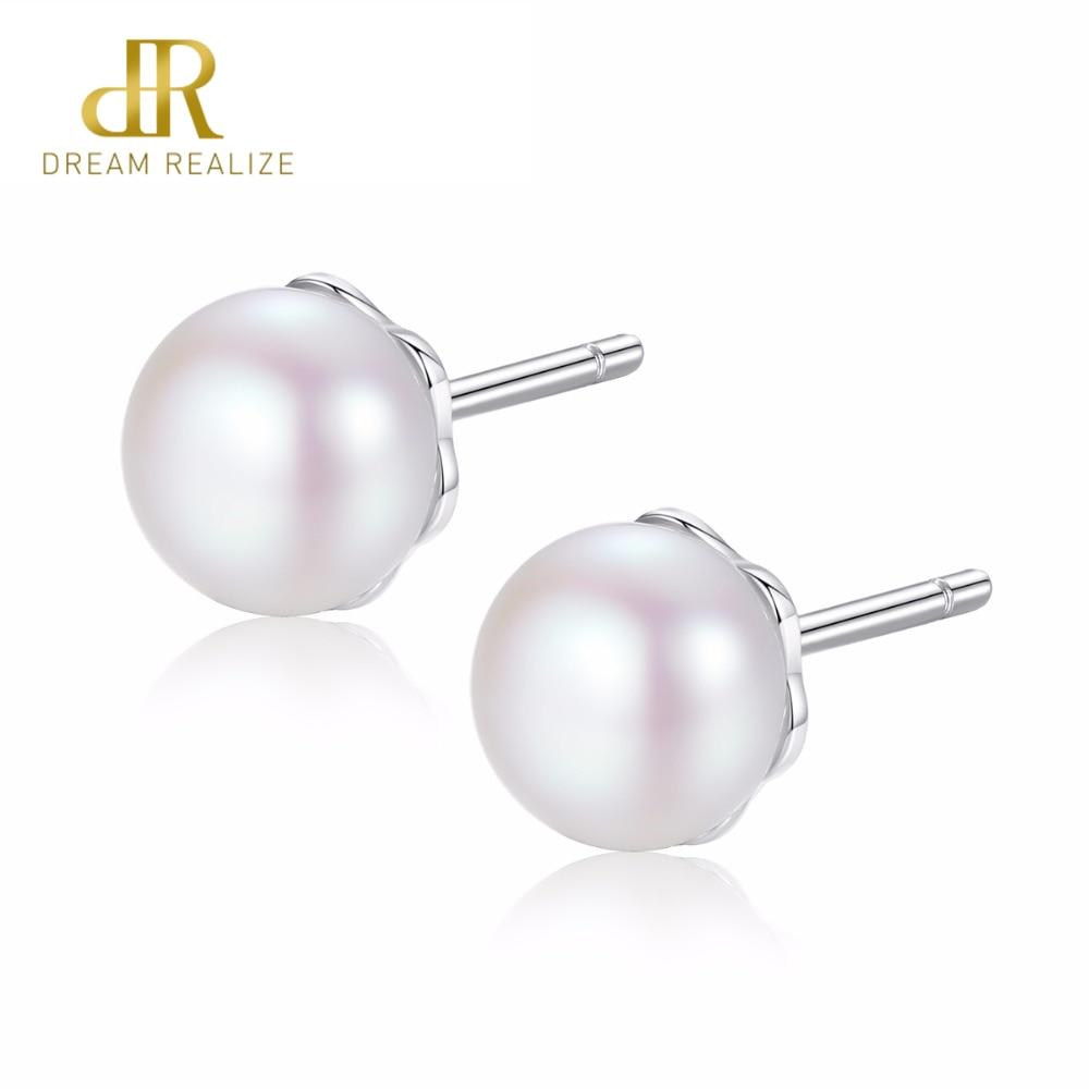Stud Earrings Earrings Lzeshine Original Fashion Everlasting Grace Stud Earrings Freshwater Cultured Pearl For Women Cz Jewelry Cer0570-b Discounts Price