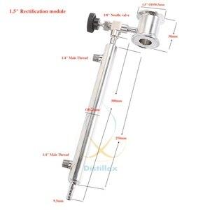"Image 1 - 1.5"" OD50.5mm  Rectification module , Reflux column , Distillation , Sanitary Steel 304"