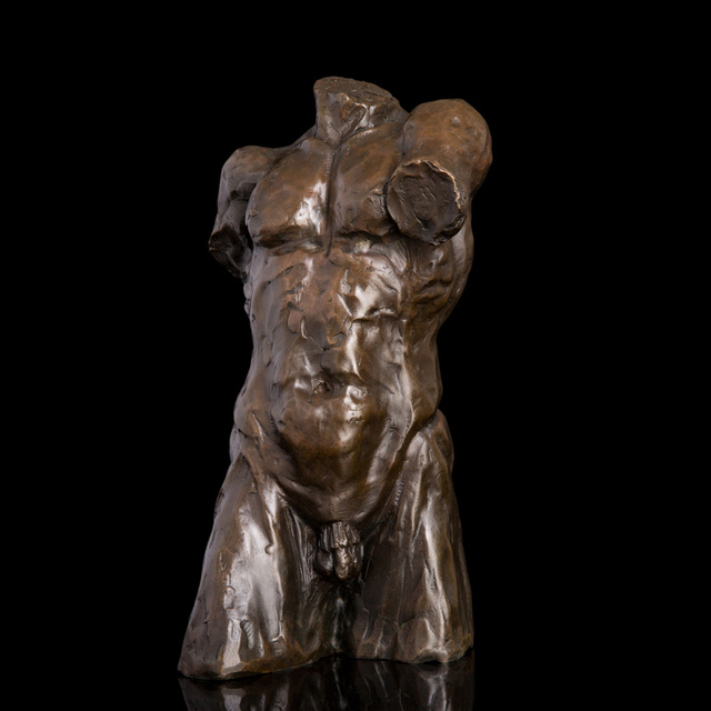 Atlie Bronzes Modern Art Study Gallery Decoration Bronze Statue Abstract Man Sculpture Gym Decorative Home Decor