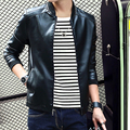 Осень моды для мужчин красивый кожаные куртки пальто мужчины повседневная slim кожа куртки пальто