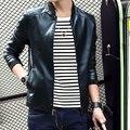 autumn men fashion handsome leather coat jacket men casual slim leather coat jacket