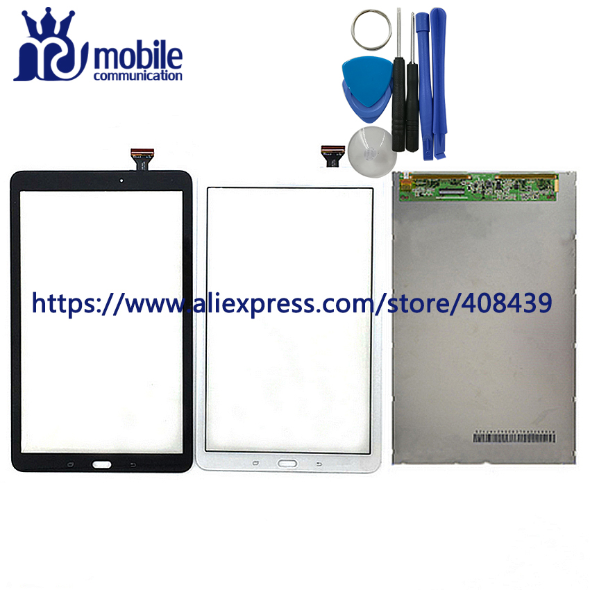 LCD Touch Panel For Samsung Galaxy Tab E SM-T560 T565 T561 LCD Display Touch Screen Digitizer Sensor Glass Lens With Tools lcd display touch screen digitizer assembly replacements for samsung galaxy tab e t560 sm t560nu 9 6 free shipping