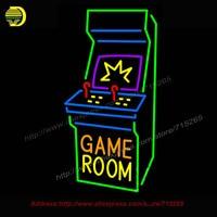 Game Room Tủ Arcade Neon Đăng Bất Bóng Đèn Neon Thủ Công giải trí Room Bar Pub Tường Mang Tính Biểu Tượng ánh sáng Dấu Hiệu Neon ánh sáng 37x20
