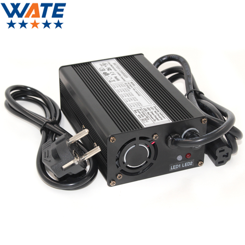 42V 3A Li-ion Battery Charger Aluminum Case For 10S 36V Lipo LiMn2O4 LiCoO2 Battery Smart Charger Auto-Stop Smart Tools