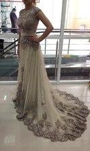 Elegant Muslim Evening Dresses 2019 A-line Cap Sleeves Tulle Lace Beaded Islamic Dubai Saudi Arabic Long Evening Gown Prom Dress цена и фото
