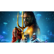Full Square Drill 5D DIY Aquaman Marvel-hero diamond painting Cross Stitch 3D Embroidery Kits  H20 full square drill 5d diy seaside volcano moon diamond painting cross stitch 3d embroidery kits h118