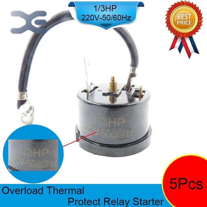 5PCS Overload Protector Refrigerator 1/3 HP Compressor For Refrigerator 220V 250W Refrigerator Parts цена и фото