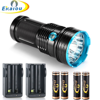 Waterproof 3 Mode 20000 Lm 12x CREE T6 LED 18650 Tactical Flashlight Hunting Flashlight Rechargeable 18650