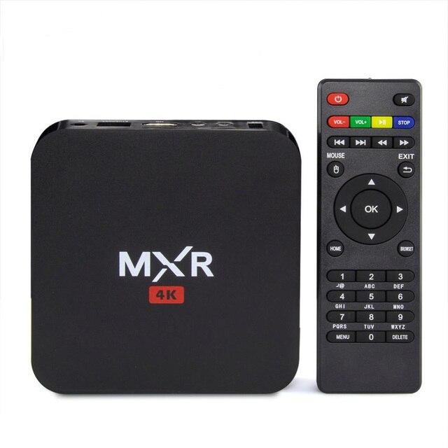 New Mini MXR RK3229 Quad Core Hard Disk Player 1G/8G WiFi HDMI2.0 4K H.265 10Bit KODI Smart TV Box XBMC TV Google Play Store
