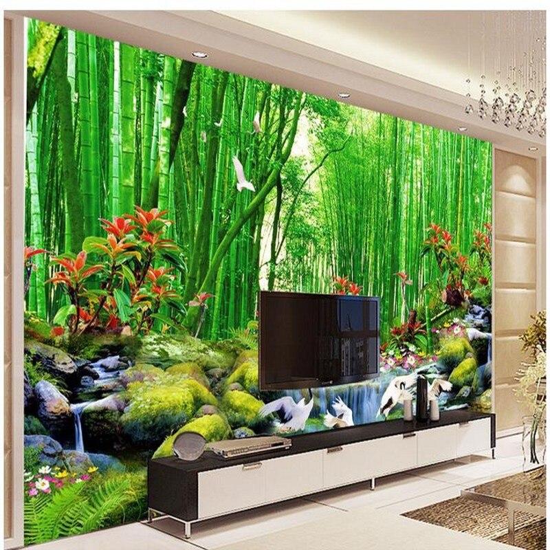 Compra murales de bamb online al por mayor de china - Murales para salon ...