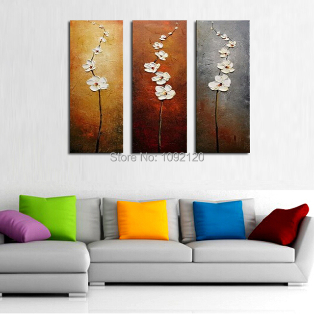 Elegant Large Oil Paintings Handmade Abstract Picture On Canvas Hang Painting Wall  Decorate Living Room Best Gift Part 11